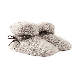 Ruby And Ed Cloud Tie Snuggle Boot   Natural - shoes
