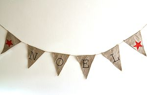 Hessian Christmas 'Noel' Bunting - outdoor decorations