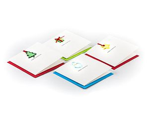 Merry Christmas Cards   Pack Of Four - cards
