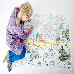 Seaside Colouring In Poster - toys & games