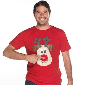 Men's Squeaky Nose Rudolph T Shirt