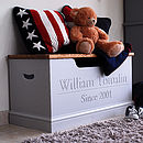 Personalised Toy Box Or Storage Chest