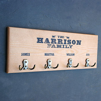 Personalised Wooden Coat Hook from Letterfest