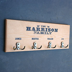 Personalised Wooden Coat Hook