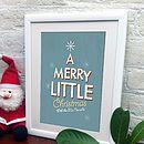 Personalised Retro Style Christmas Print
