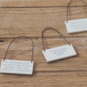Mini Message Sign - decorative accessories