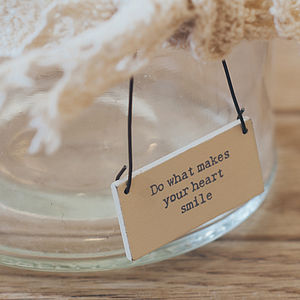 Mini Message Sign - wedding favours