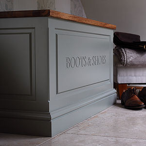 Boot And Shoe Box - chests & blanket boxes