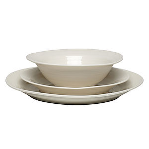 Hand Thrown Porcelain Dinner Service - tableware
