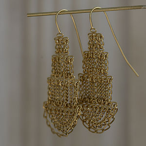 Large Pagoda Earrings - earrings