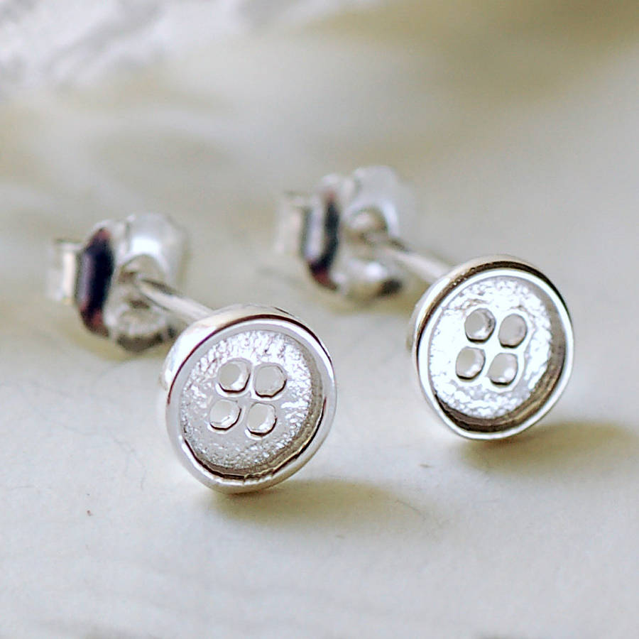 original button product polished by earrings stud stuart silver solid nest