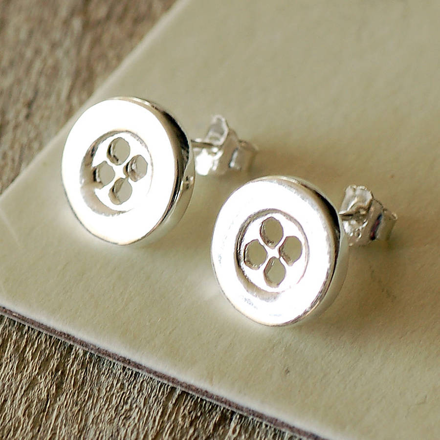 button stud earrings by highland angel
