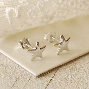 Tiny Silver Star Earrings - shop by price