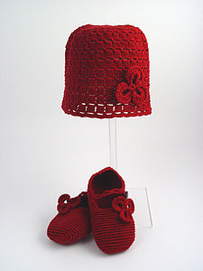 Handmade Bamboo Hat And Booties Gift