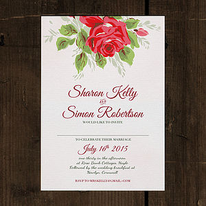 Bouquet Wedding Invitation Stationery - save the date cards