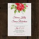 Bouquet Wedding Invitation Stationery