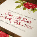 Bouquet Wedding Save the Date Card Detail