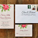 Bouquet Wedding Invitation Suite