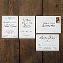 Vintage Heart Wedding Invitation Suite