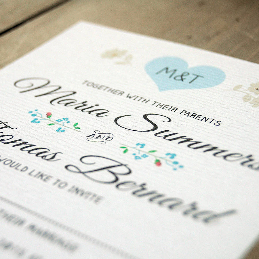 vintage heart wedding invitation by feel good wedding invitations