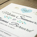 Vintage Heart Wedding Invitation