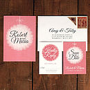 Winter Bauble Wedding Invitation Suite