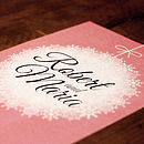 Winter Bauble Wedding Invitation Front