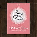 Winter Bauble Wedding Save the Date