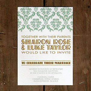 Art Deco Gatsby Wedding Invitation