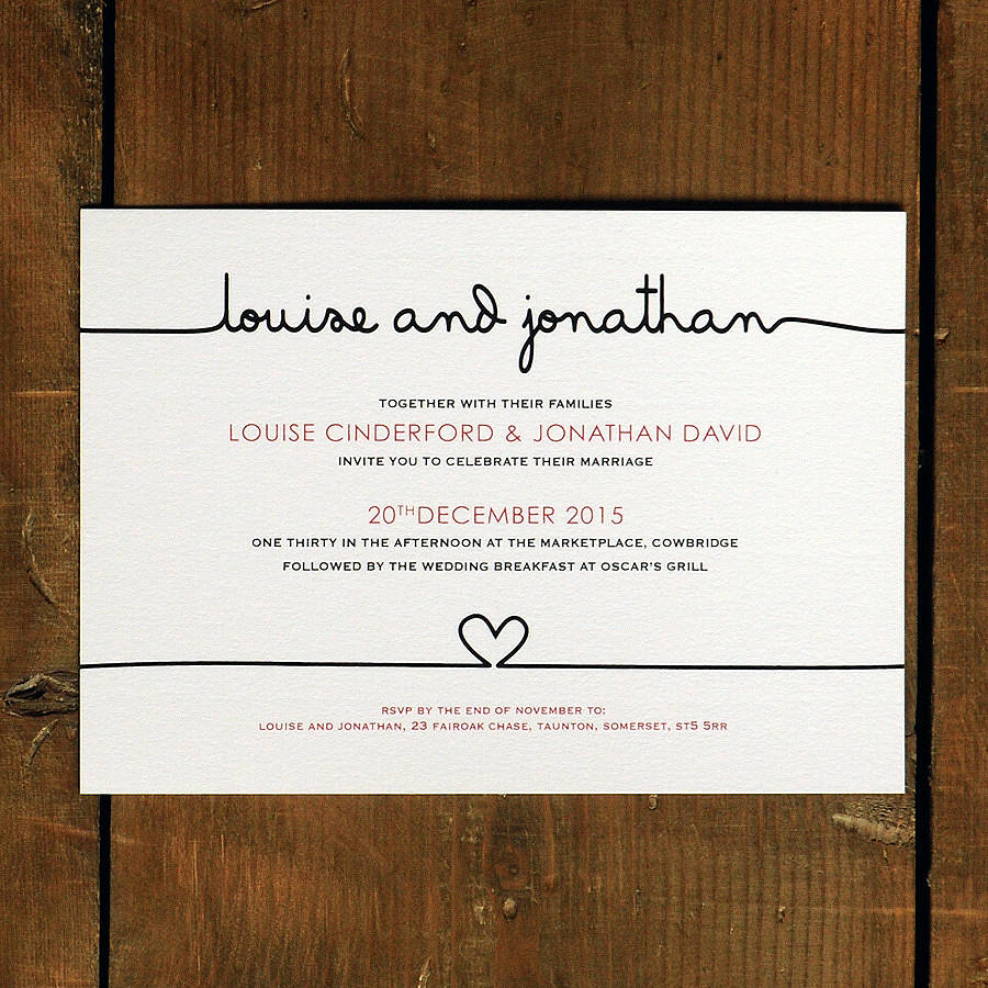 Original Scribble Wedding Invitation