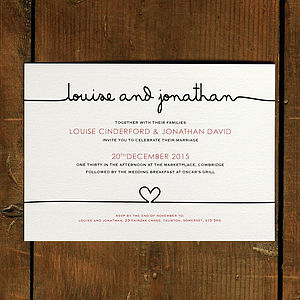 Scribble Wedding Invitation Stationery - invitations