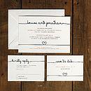 Scribble Wedding Invitation Suite