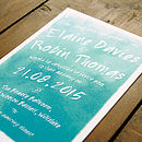 Whimsical Watercolour Wedding Invitation Set