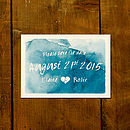 Whimsical Watercolour Wedding Save the Date Card