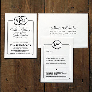 Heart Illustration Wedding Invitation - save the date cards