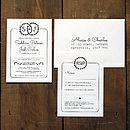 Heart Illustration Wedding Invitation Suite
