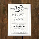 Heart Illustration Wedding Invitation Set