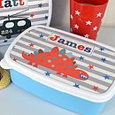 Boys Personalised Lunch Box Various Designs