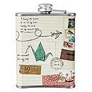 Bon Voyage Hip Flask Back