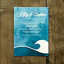 Ocean Wave Wedding Invitation Stationery