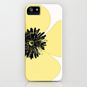 Poppy Flower In Yellow On The Phone Case - tech accessories for her