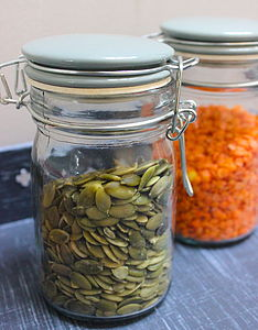 Glass And Ceramic Storage Jars   Medium - kitchen