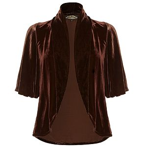 Juno Blazer In Silk Velvet - coats & jackets