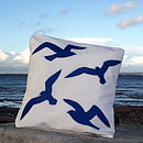 Seagulls Sailcloth Cushion