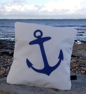 Anchor Sailcloth Cushion - cushions