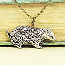 Wild Badger Necklace Pendant Pewter
