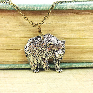 Bear Necklace Pendant - necklaces & pendants