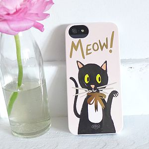 Meow iPhone Five 5s Phone Case - women's accessories