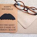 Personalised Moustache Card