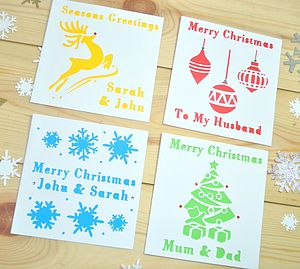 Pack Of Four Laser Cut Christmas Cards - christmas card packs